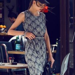 Kolsuz Elbise 2015 Yaz Sokak Modası
