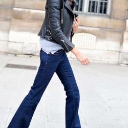 Koyu Mavi Kot 2015 İspanyol Paça Pantolon Modelleri