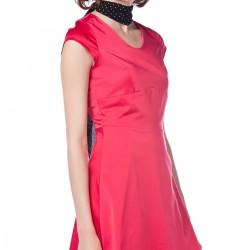 Nar Çiçeği Rengi Dilvin Elbise Modelleri