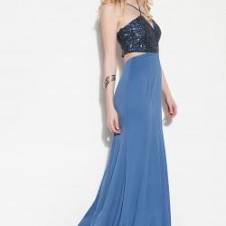 Payetli Mavi 2015 Elbise Modelleri