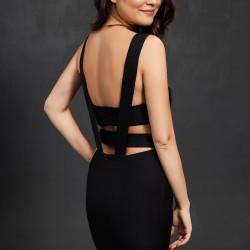 Sırt Dekolteli Siyah 2015 Elbise Modelleri