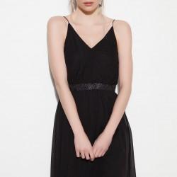 Spagetti Askılı Siyah Vero Moda 2015 Elbise Modelleri