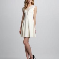 Tül Detaylı 2015 Beyaz Elbise Modelleri