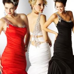 Taş Süslemeli Tek Omuz Elbise Modelleri