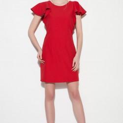 Yuvarlak Yaka Kırmızı Vero Moda 2015 Elbise Modelleri
