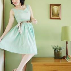 Zarif Yazlık Mint Yeşili Elbise Modelleri