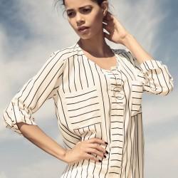 Çizgili Beyaz Gömlek İroni 2015 Modelleri