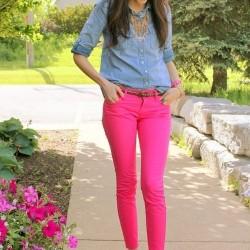 2015 Neon pembe pantolon kombinleri