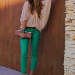 2015 Yeşil Pantolon Modelleri ve Kombinleri