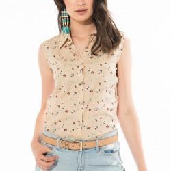 Desenli Bej 2015 Yazlık Gömlek Modelleri