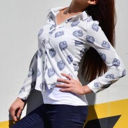 Desenli Beyaz 2015 Yazlık Gömlek Modelleri
