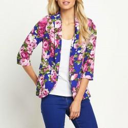 En güzel çiçek desenli ceket modelleri ve kombinler