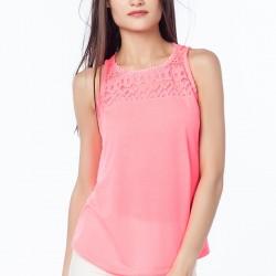 Pembe 2015 Kolsuz Bluz Modelleri