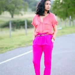 Pembe Neon Pantolon Modelleri 2015