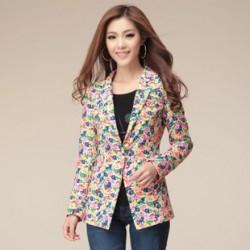 Rengarenk çiçek desenli ceket modelleri