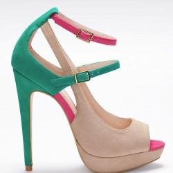 Renkli Yazlık İnce Topuklu Ayakkabı Modelleri