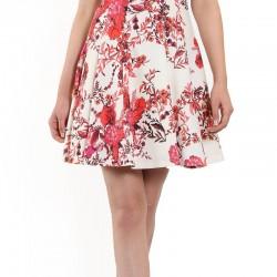 Ekol Desenli Mini Elbise Modeli