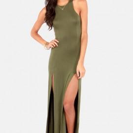 En İddialı Asker Yeşili Elbise Modelleri