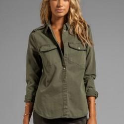 En İddialı Asker Yeşili Gömlek Modelleri