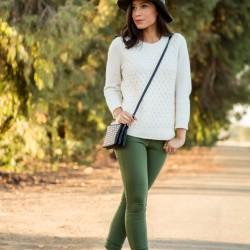 En Güzel Asker Yeşili Pantolon Modelleri