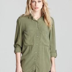 En Tarz Asker Yeşili Gömlek Modelleri