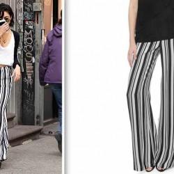 Sokak Modası Çizgili Pantolon Kombinleri
