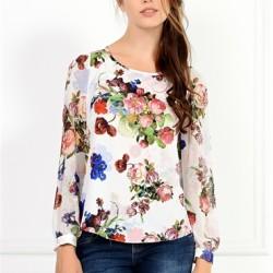 Çiçek desenli bluz modelleri