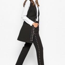 En Tarz Vavist Bayan Kumaş Pantolon Modelleri