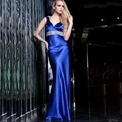 Yeni Sezon Gece Mavisi Gece Elbise Modelleri
