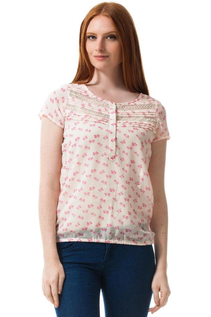 DeFacto Çiçek Desenli Şifon Bluz Modelleri