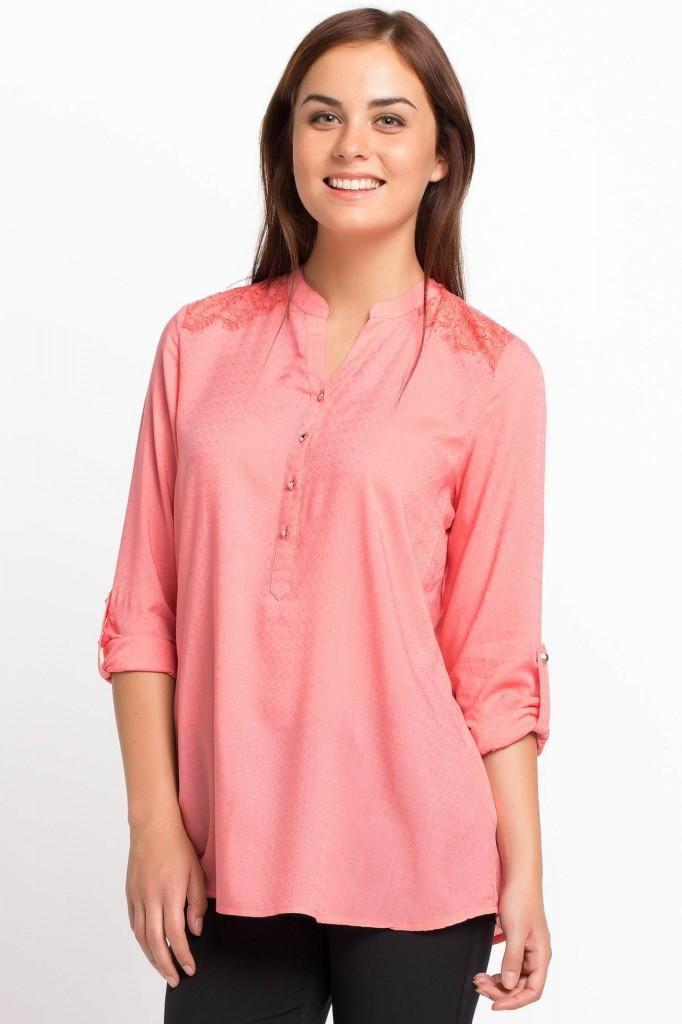 DeFacto Dantel Yaka Detaylı Bluz Modelleri