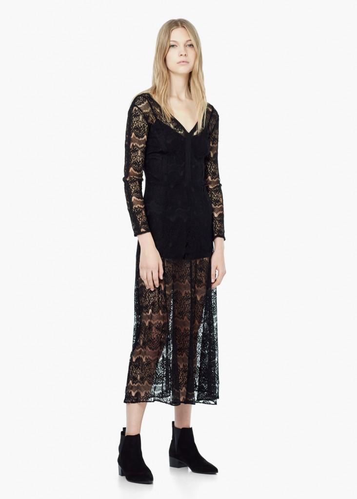 En Yeni Mango Dantelli Elbise Modelleri