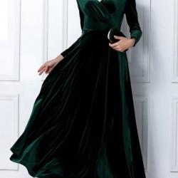 En Zarif Kadife Abiye Elbise Modelleri