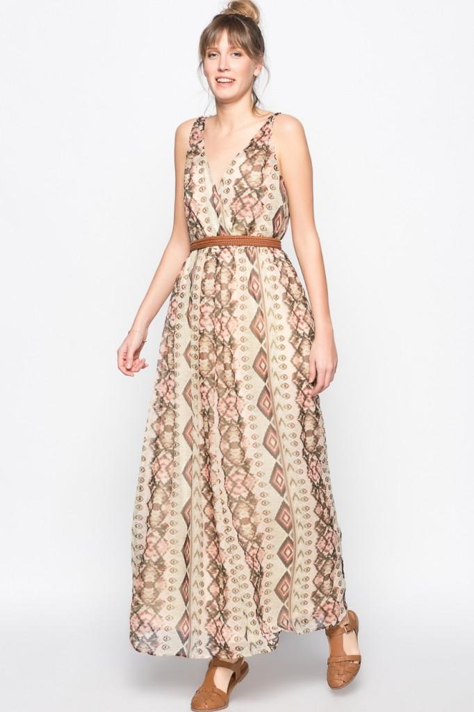Etnik Desenli Vero Moda Günlük Elbise Modelleri