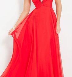 Kırmızı Renkli Mezuniyet Elbisesi Modelleri 2016
