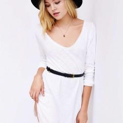 Kemer Detaylı Beyaz Renkli Tunik Modelleri