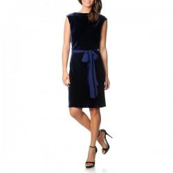 Kuşak Detaylı Kadife Abiye Elbise Modelleri
