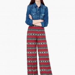 Mango Etnik Desenli Pantolon Modeli