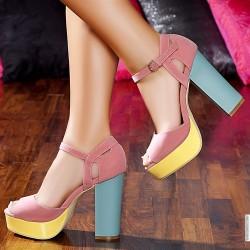 Renkli Yüksek Topuklu Ayakkabı Modelleri