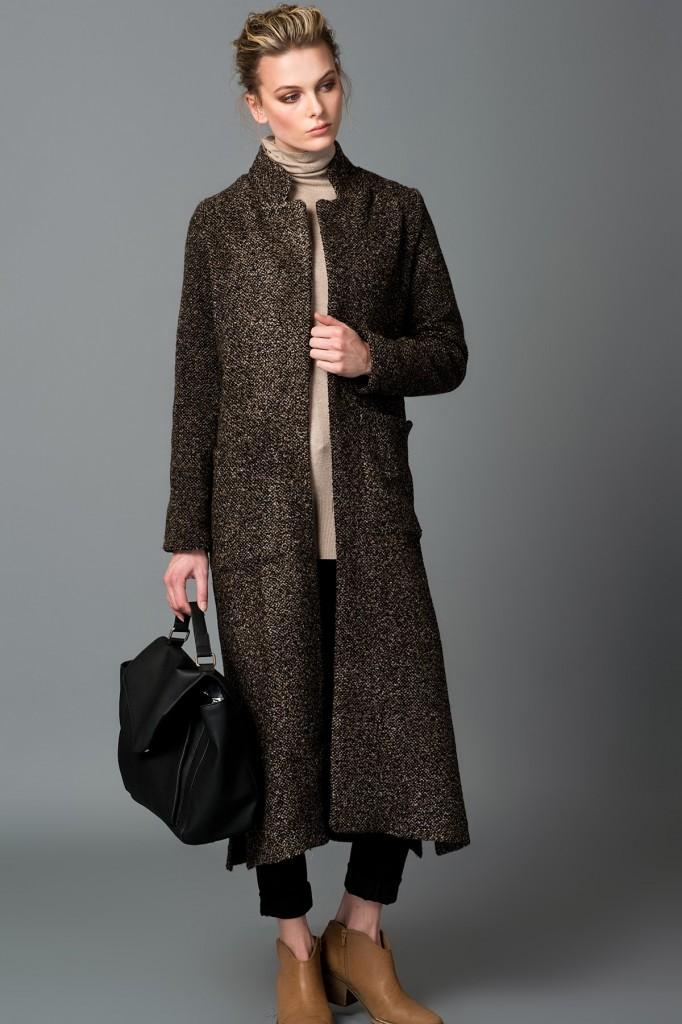 Vavist Kahverengi Kışlık Kaban Modeli