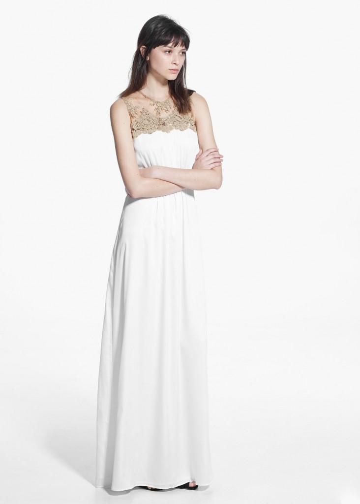 Yeni Sezon Mango Dantelli Elbise Modelleri