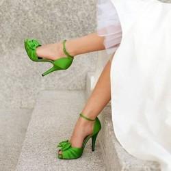 Yeni Sezon Renkli Topuklu Ayakkabı Modası