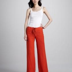 Bol Paça Kırmızı Pantolon Modelleri