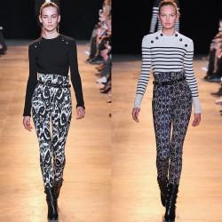 Desenli Yüksek Bel Pantolon Modelleri 2016