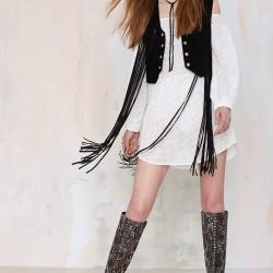 En Moda Süet Yelek Modelleri