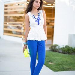 Saks Mavisi Pantolon Bluz Kombinleri