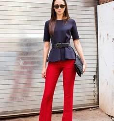 Yeni Sezon Kırmızı Bayan Pantolon Modelleri