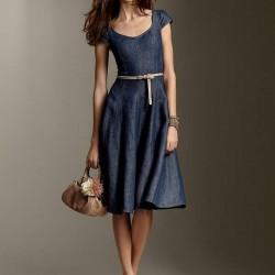 Yeni Sezon En Güzel Kot Elbise Modelleri