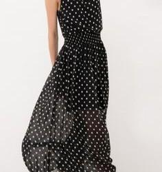 Puantiyeli Çok Şık Şifon Elbise Modelleri