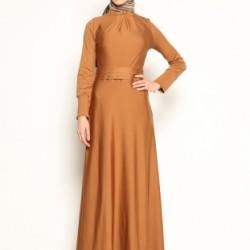 En Şık Tesettür Kloş Elbise Modelleri